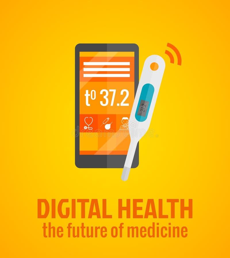 Cyfrowych zdrowie pojęcie ilustracja wektor