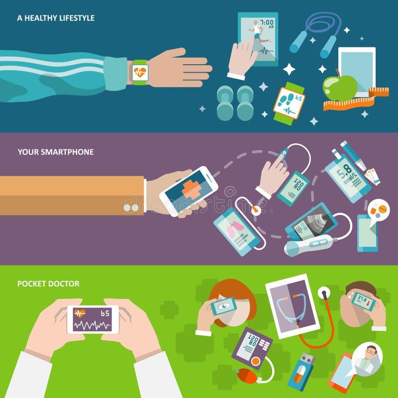 Cyfrowych zdrowie sztandar ilustracja wektor