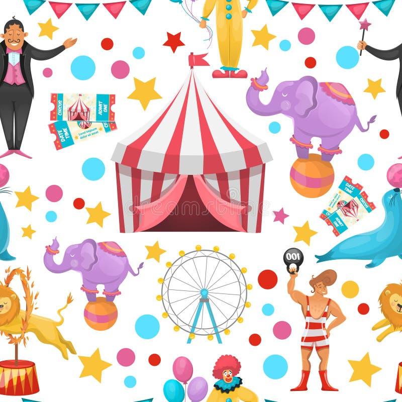 Cygański cyrka wzór royalty ilustracja
