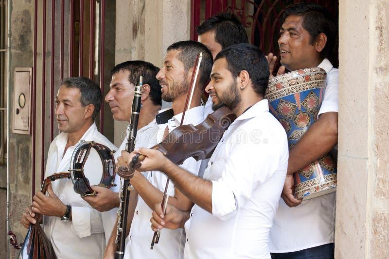 Cygański uliczny zespół zdjęcie royalty free