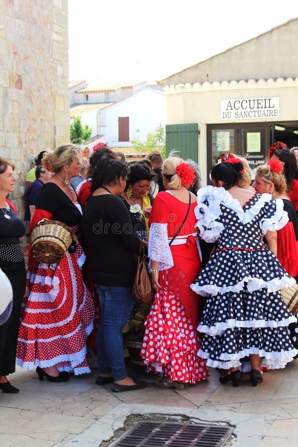 Cygańskie kobiety w Saintes Maries De Los angeles Mer, Camargue obrazy stock