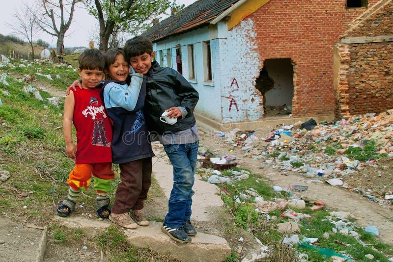 Cyganów dzieci zdjęcia royalty free