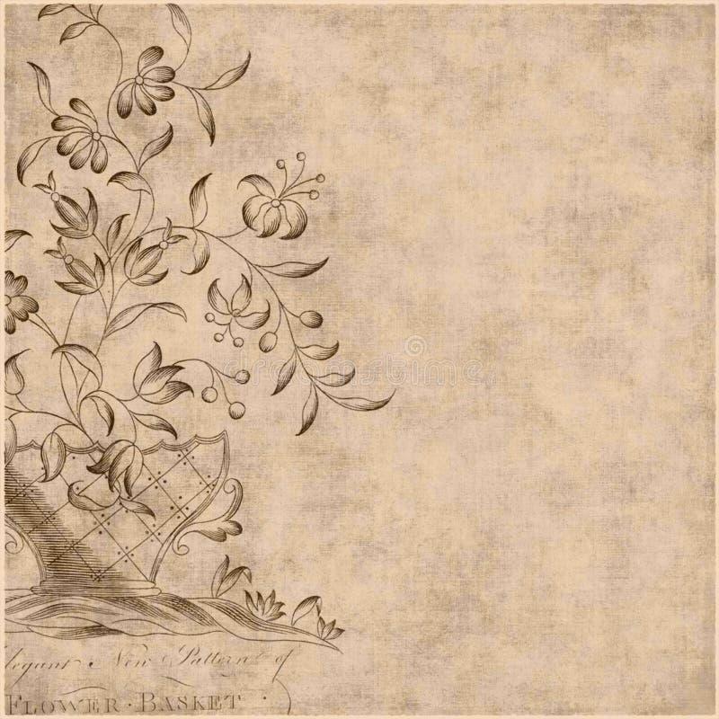 cyganka tła artystyczny kwiecisty styl royalty ilustracja