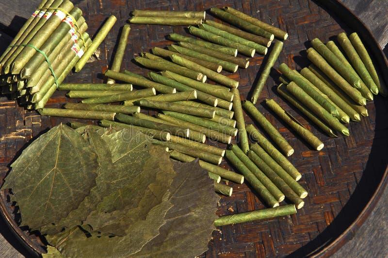 cygara inle lake przetwórni Myanmar fotografia royalty free