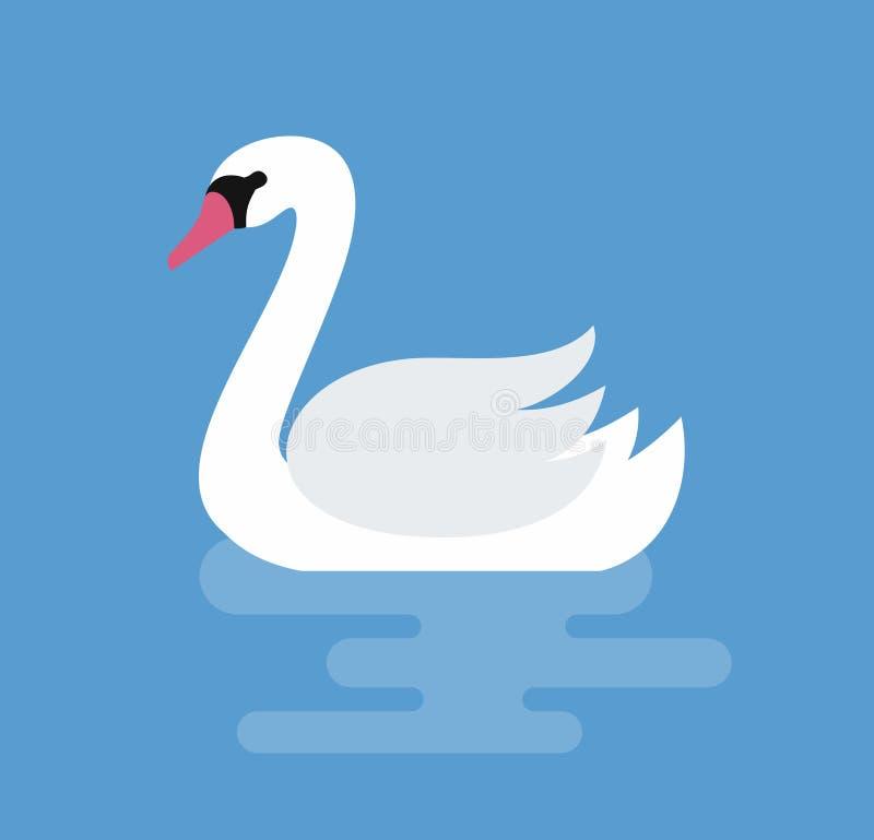 Cygne blanc sur l'eau illustration libre de droits