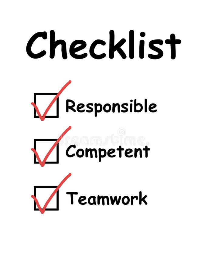 cykająca checkboxes lista kontrolna ilustracji