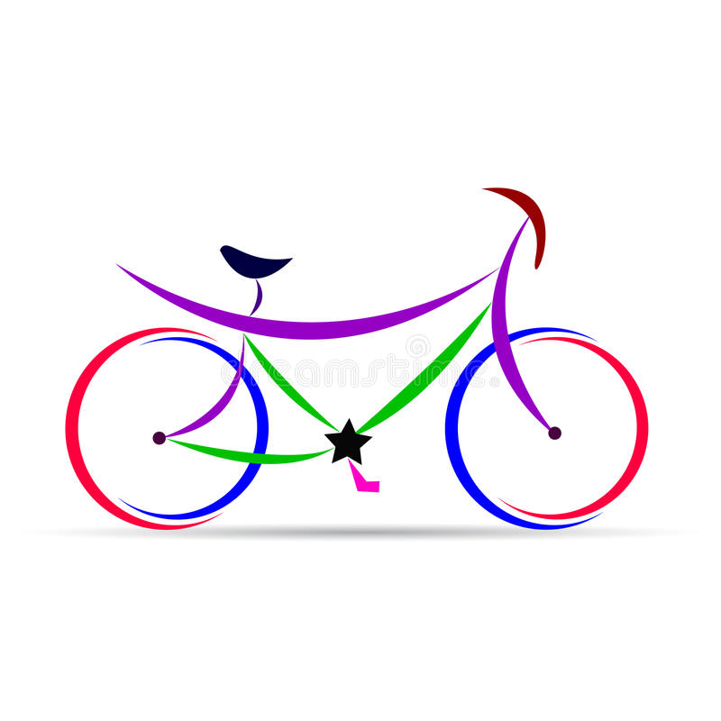 cykel stock illustrationer