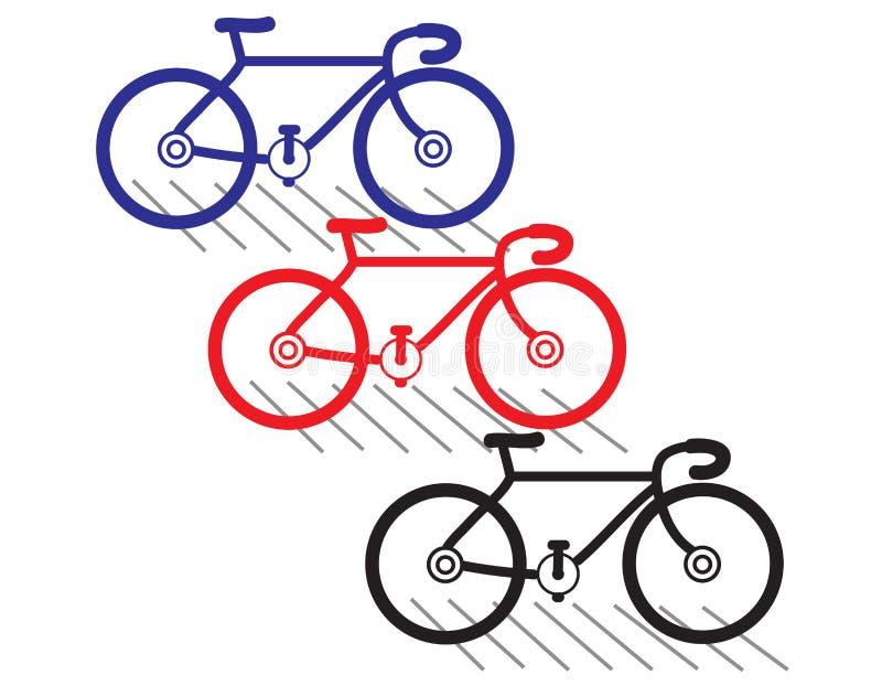 cykel royaltyfri illustrationer