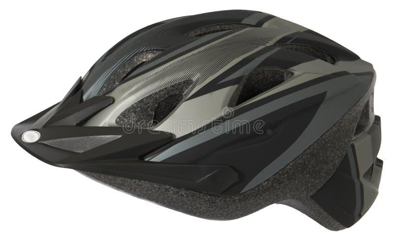 Cykel- eller cykelhjälm, säkerhet Equiment som isoleras arkivbild