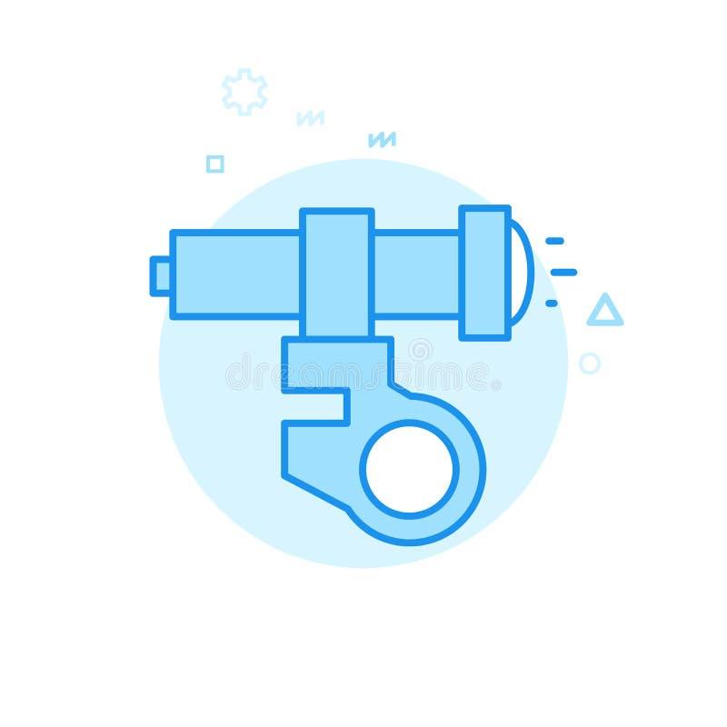 Cykel- eller cykelljus, plan vektorsymbol för billykta, symbol, Pictogram, tecken Blå monokrom design Redigerbar slaglängd vektor illustrationer