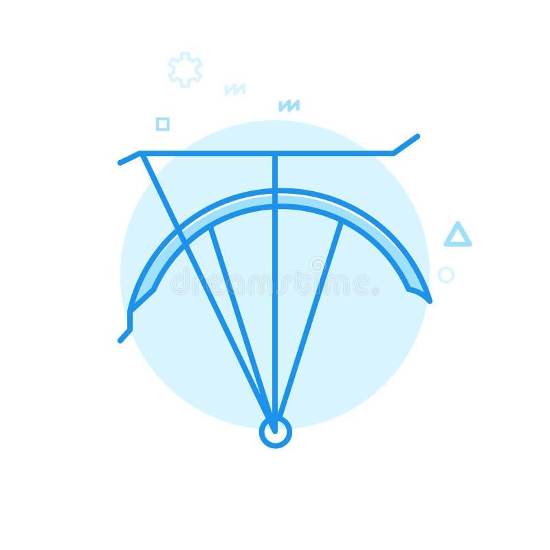 Cykel- eller cykelstänkskärm med den plana vektorsymbolen för stam, symbol, Pictogram, tecken Blå monokrom design Redigerbar slag vektor illustrationer