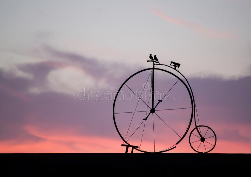 Cykel för två arkivfoto