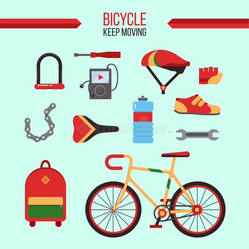Cykel Kit Keep Moving vektor illustrationer