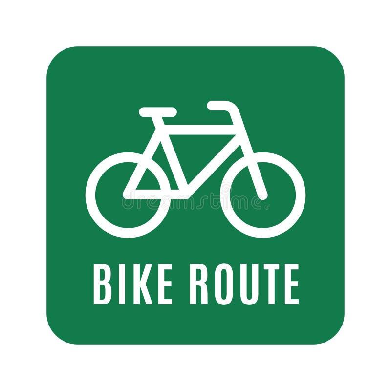 Cykel-linje-symbol kopia stock illustrationer