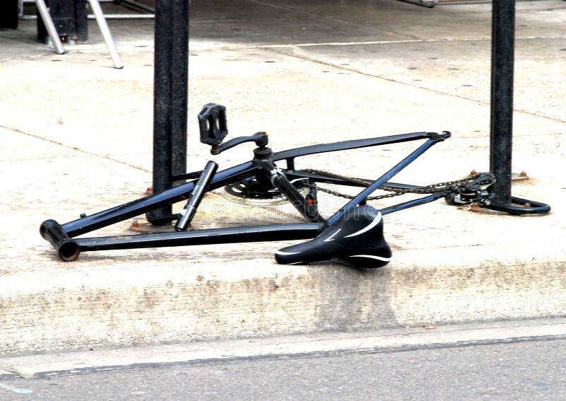 Cykel med saknadhjul och styren royaltyfri foto