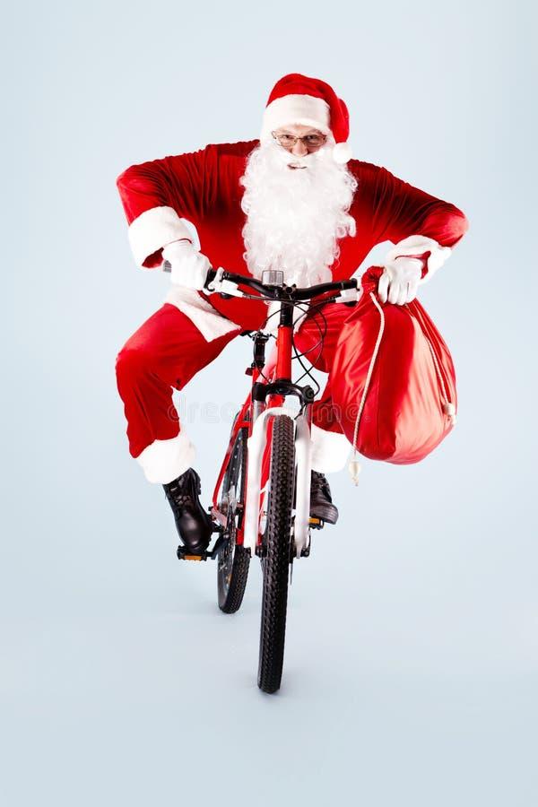 cykel santa arkivfoto
