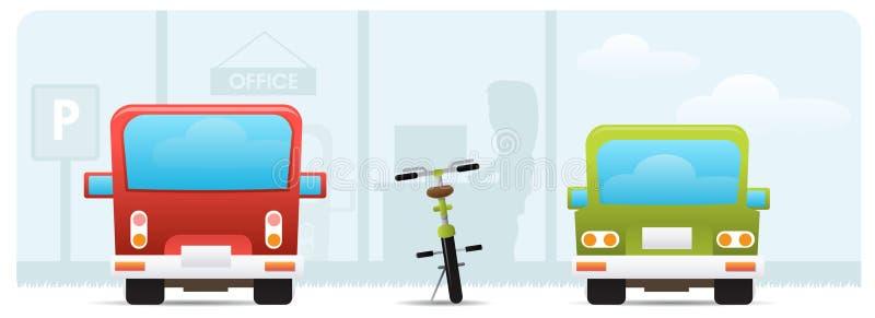 cykelbegrepp som fungerar stock illustrationer