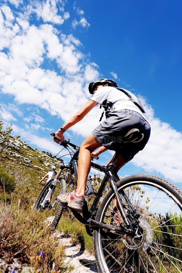 cykelbergtrail arkivbild