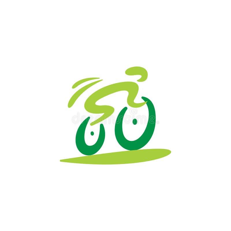 Cykelcirkuleringssymbol Logo Design Element royaltyfri illustrationer