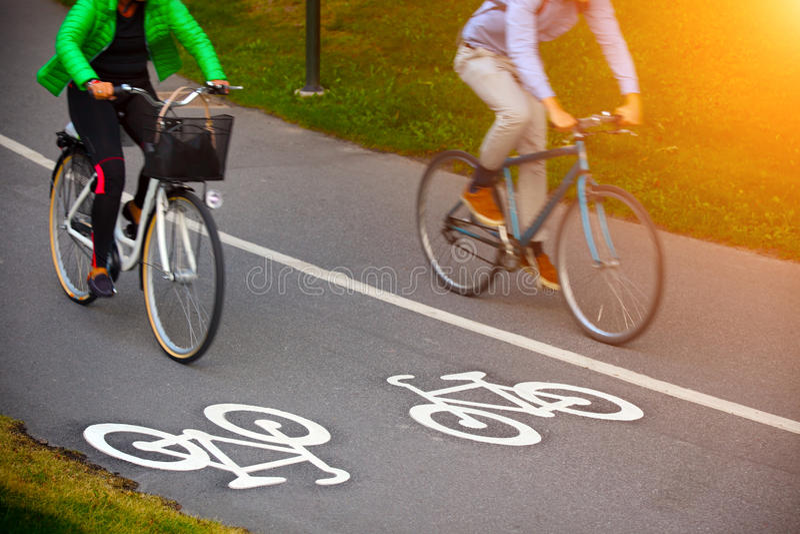 Cykelgränd royaltyfri fotografi
