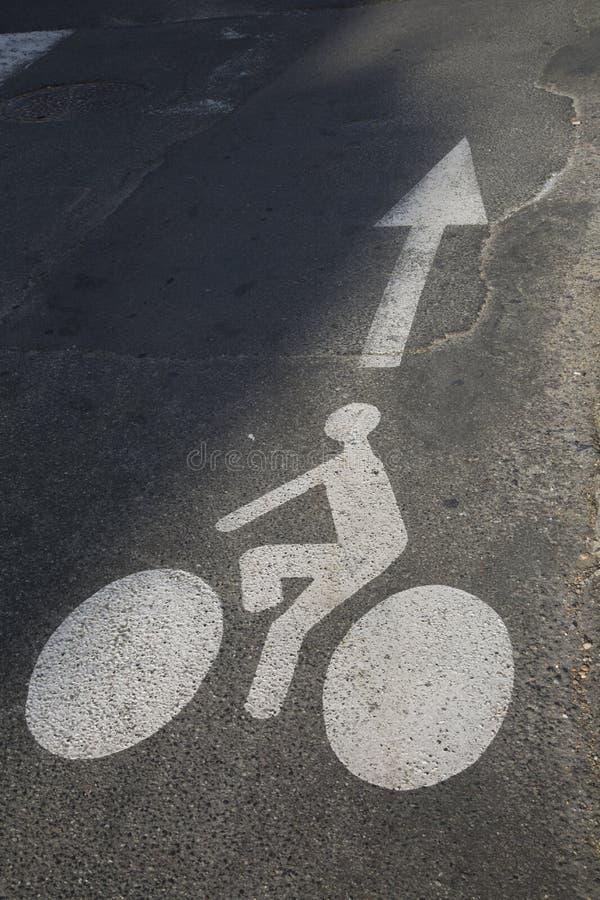 Cykelgrändsymbol arkivbilder