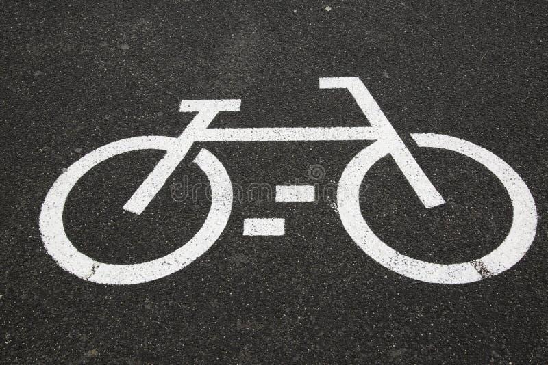 Cykelgrändsymbol arkivfoto