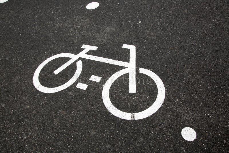 Cykelgrändsymbol royaltyfri fotografi