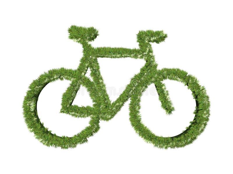 cykelgrässymbol royaltyfri illustrationer