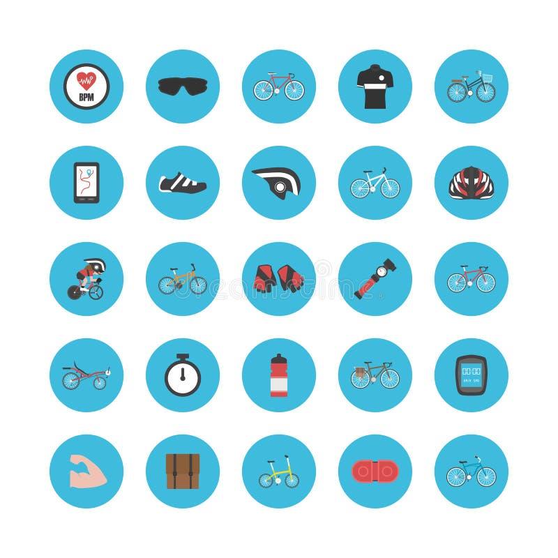 Cykelgrejsymbol stock illustrationer