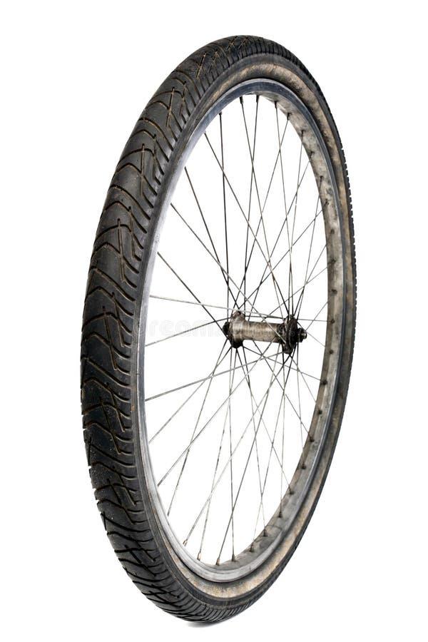 cykelgummihjulwhite fotografering för bildbyråer
