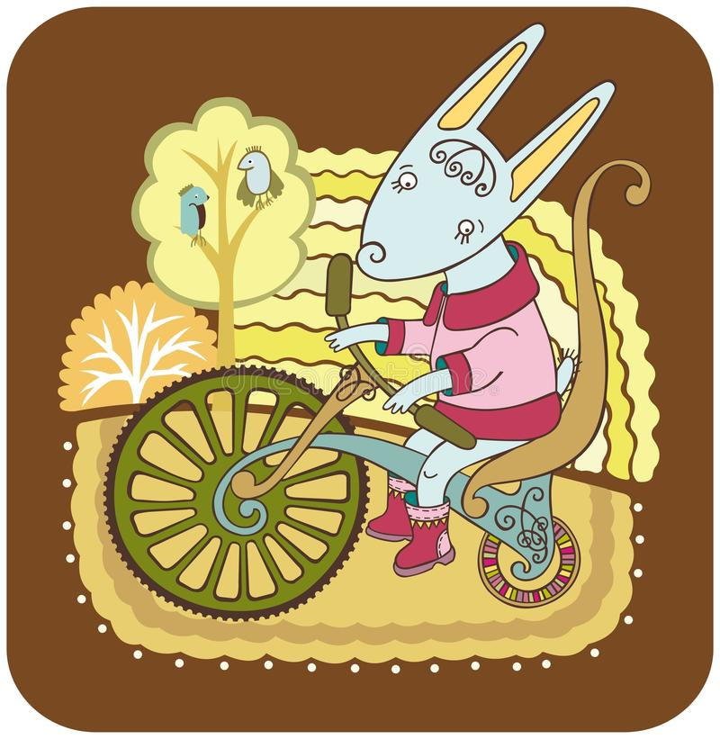 cykelhare stock illustrationer