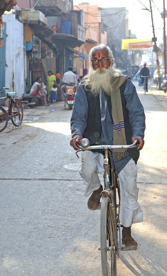 cykelhinduistman royaltyfri bild