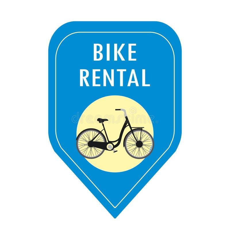 Cykelhyrasymbol royaltyfri illustrationer