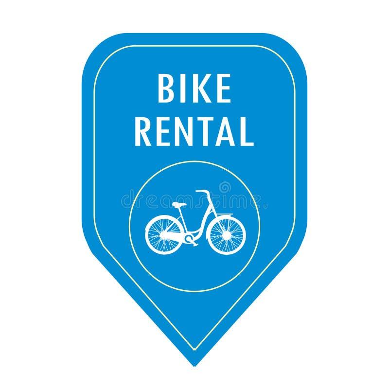 Cykelhyrasymbol stock illustrationer