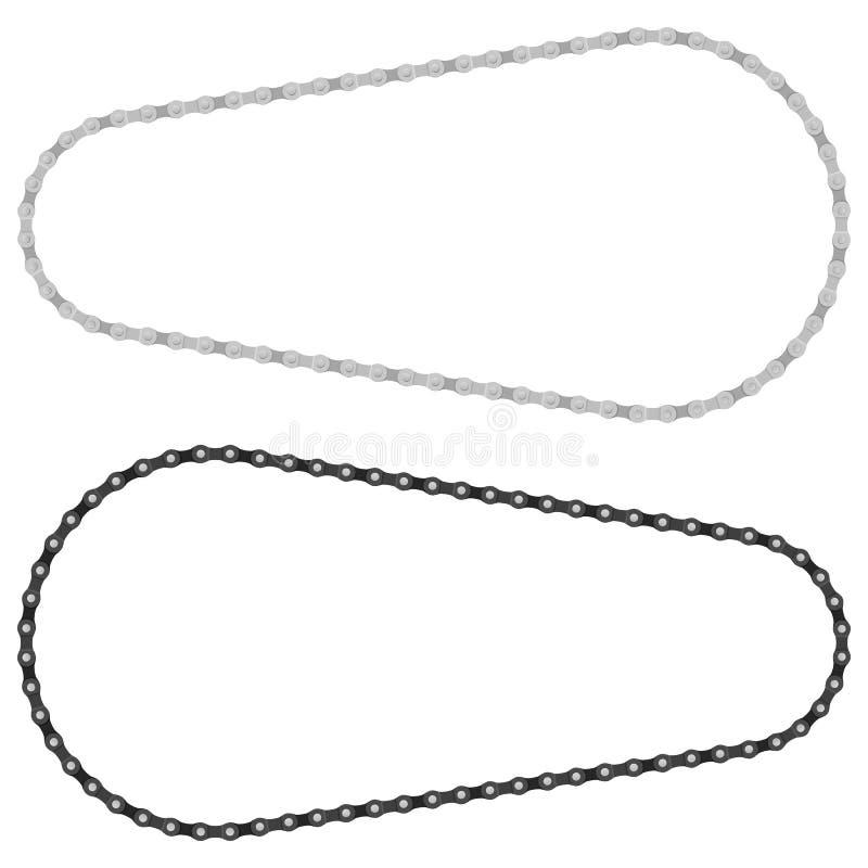 Cykelkedja vektor illustrationer