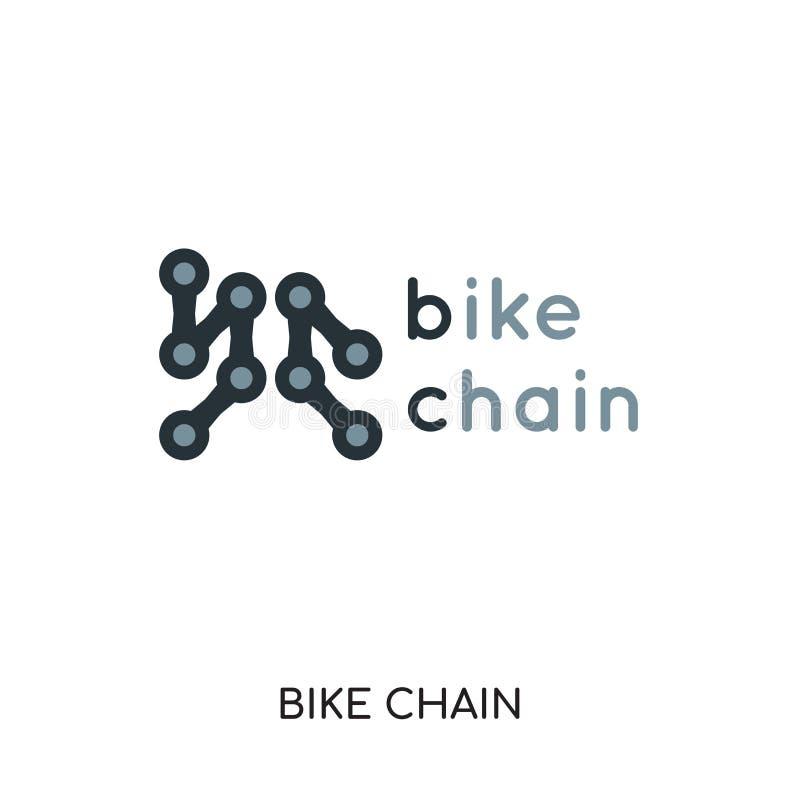 cykelkedjelogo som isoleras på vit bakgrund för din rengöringsduk, mobil royaltyfri illustrationer