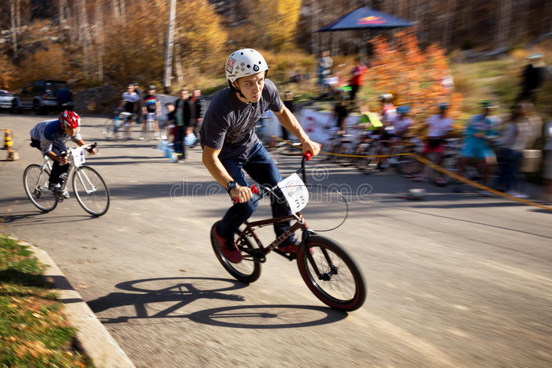 Cykelkonkurrens royaltyfri bild