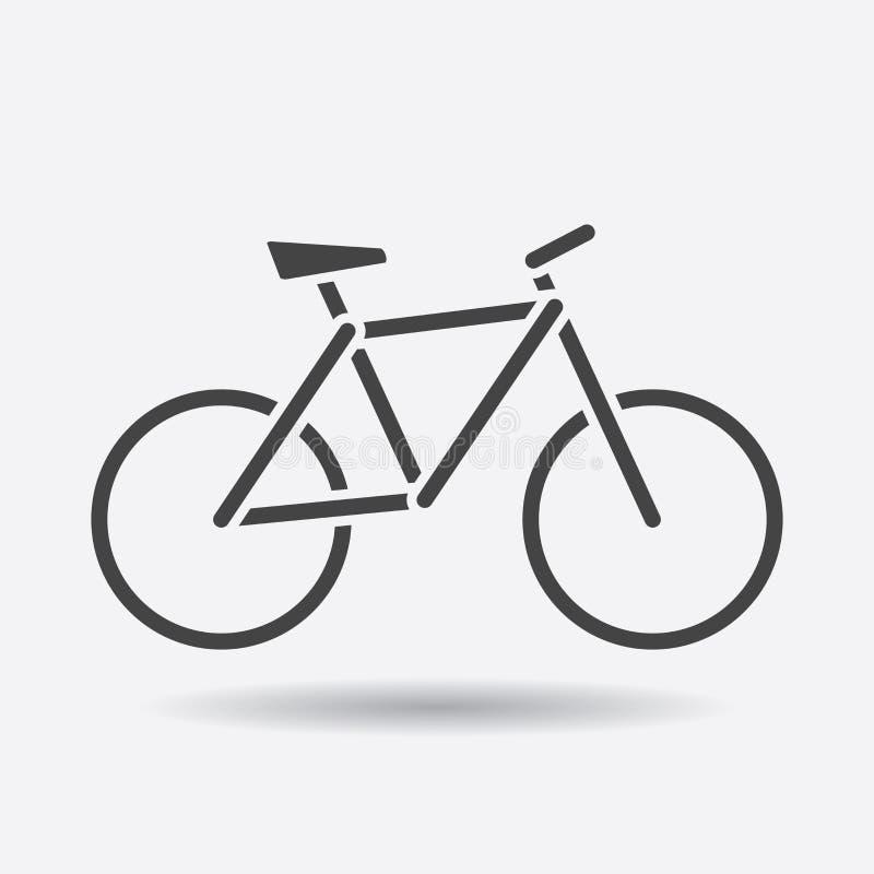 Cykelkontursymbol på vit bakgrund Cykelvektorillustr vektor illustrationer