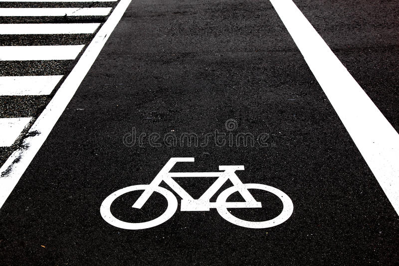 cykelkorsning arkivfoton