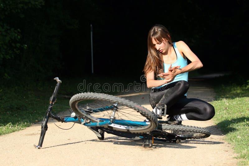cykelkrasch arkivbilder