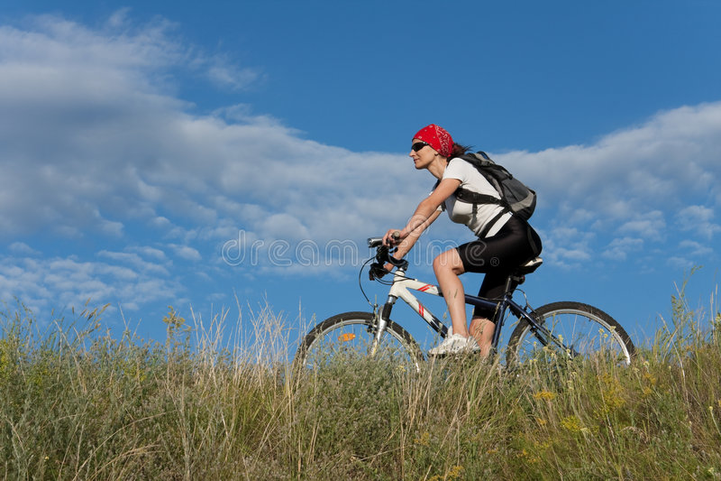 Cykelkvinna