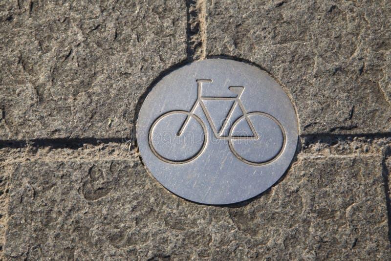 CykelLanetecken arkivbild