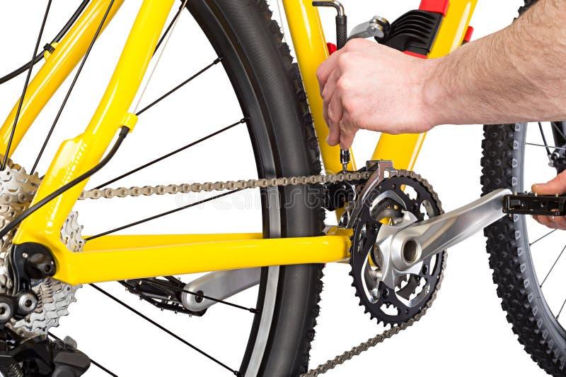 Cykelmekaniker arkivfoto