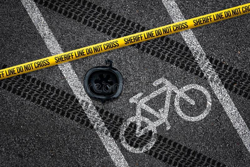 Cykelolycka på cykelgränd arkivbild