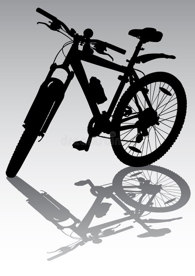 cykelparkering vektor illustrationer