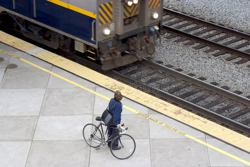 cykelpendeltåg arkivbild
