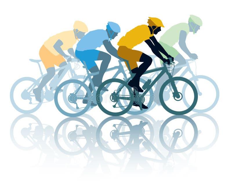Cykelrace stock illustrationer