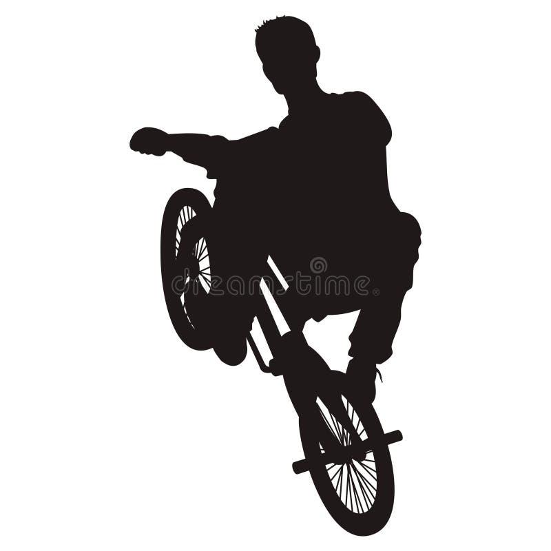 cykelridningvektor vektor illustrationer