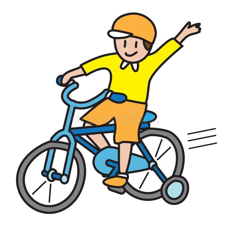cykelritt royaltyfri illustrationer