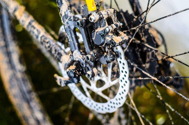 Cykelrotor av den bakre hydrauliska bromsen royaltyfri foto